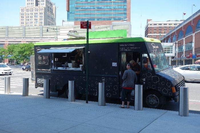Taim Mobile - kid-friendly food, Barclays Center Brooklyn, New York via Brunchwithmybaby.com