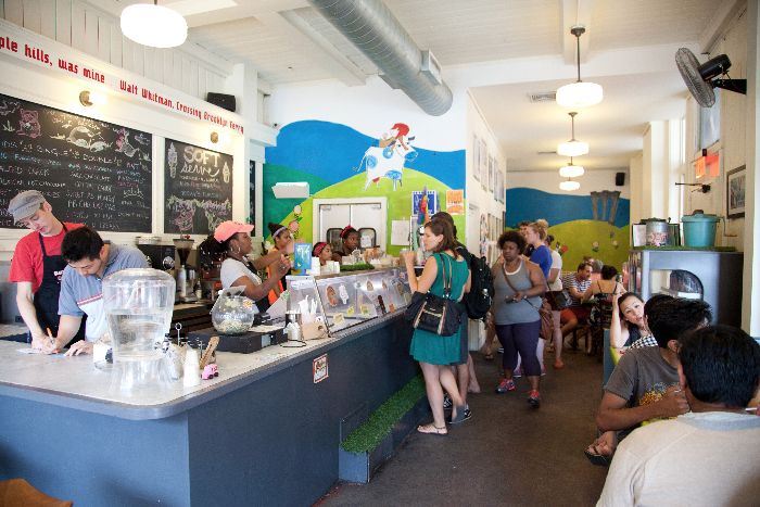 Ample Hills Creamery, kid-friendly places to eat, Prospect Heights, New York, via brunchwithmybaby.com