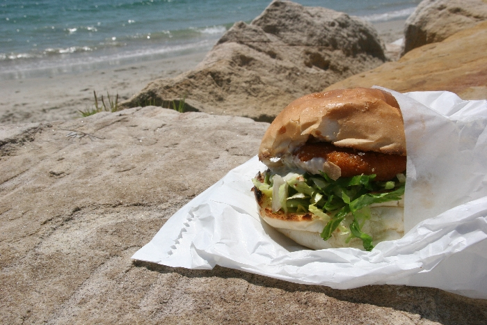 Fish Burger ($6.00). Photo by Katia Barker