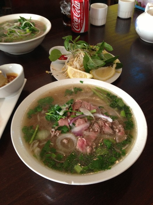 Delicious beef pho ($8).  Photo by Emily Staresina.