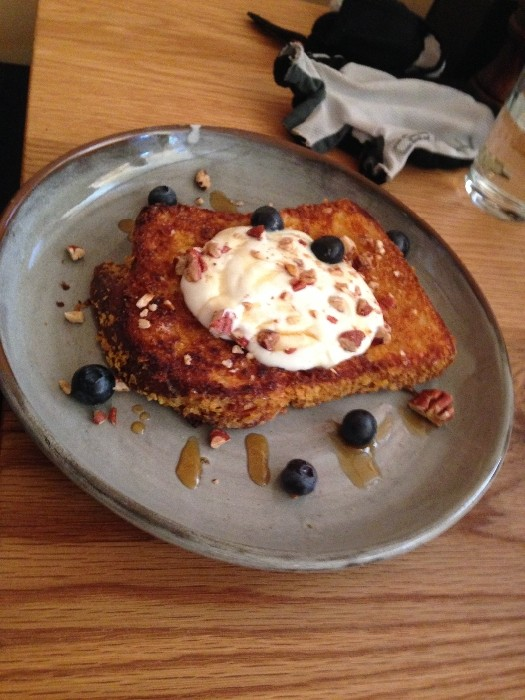 Crunchy brioche French toast ($14). Photo by Emily Staresina.