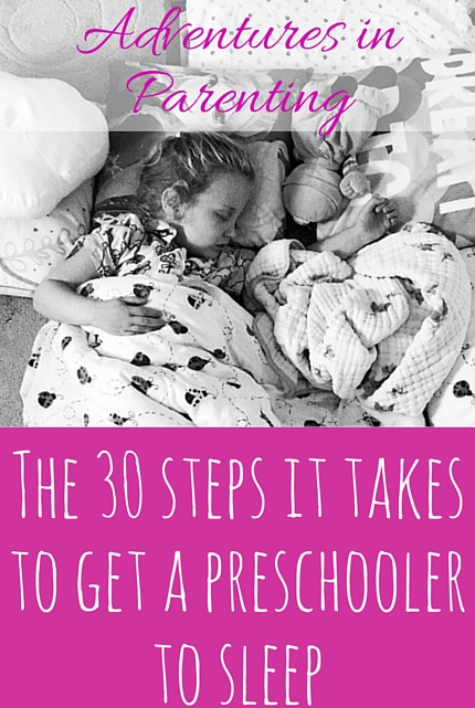 The 30 steps it takes to get a preschooler to sleep - christineknight.me