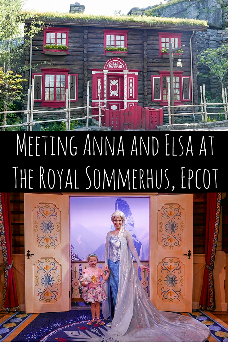 Meeting Anna and Elsa at the Royal Sommerhus Epcot via christineknight.me