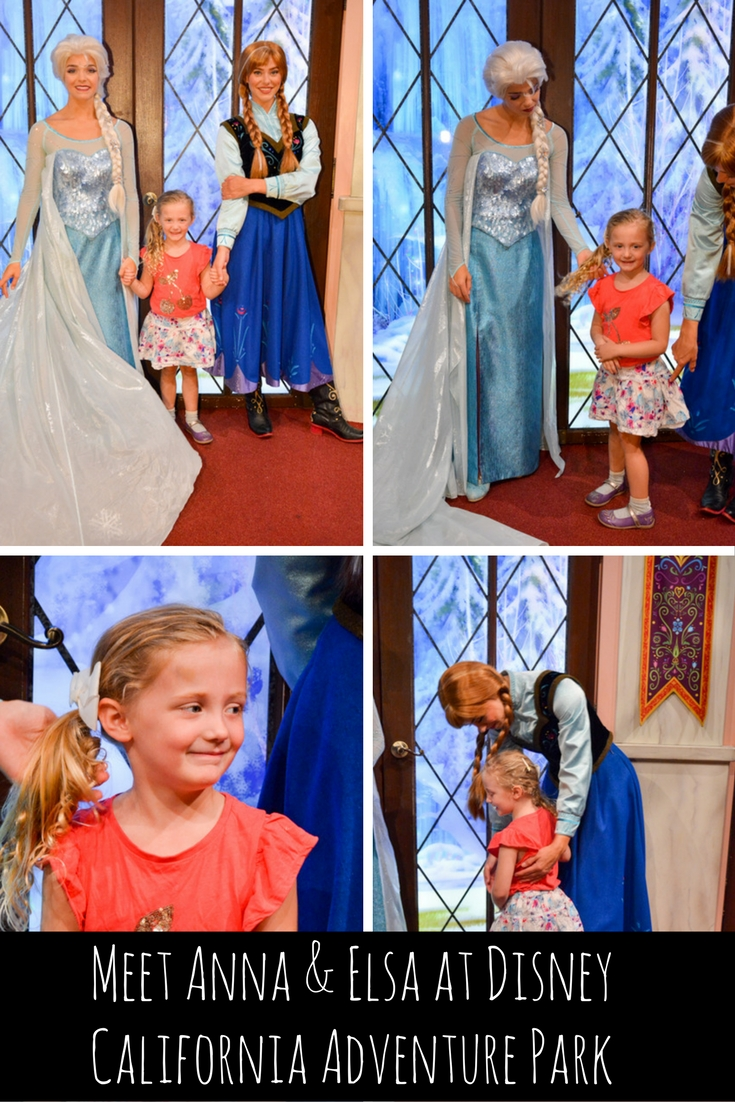 Meet Anna Elsa At Disney California Adventure Park Adventure Baby