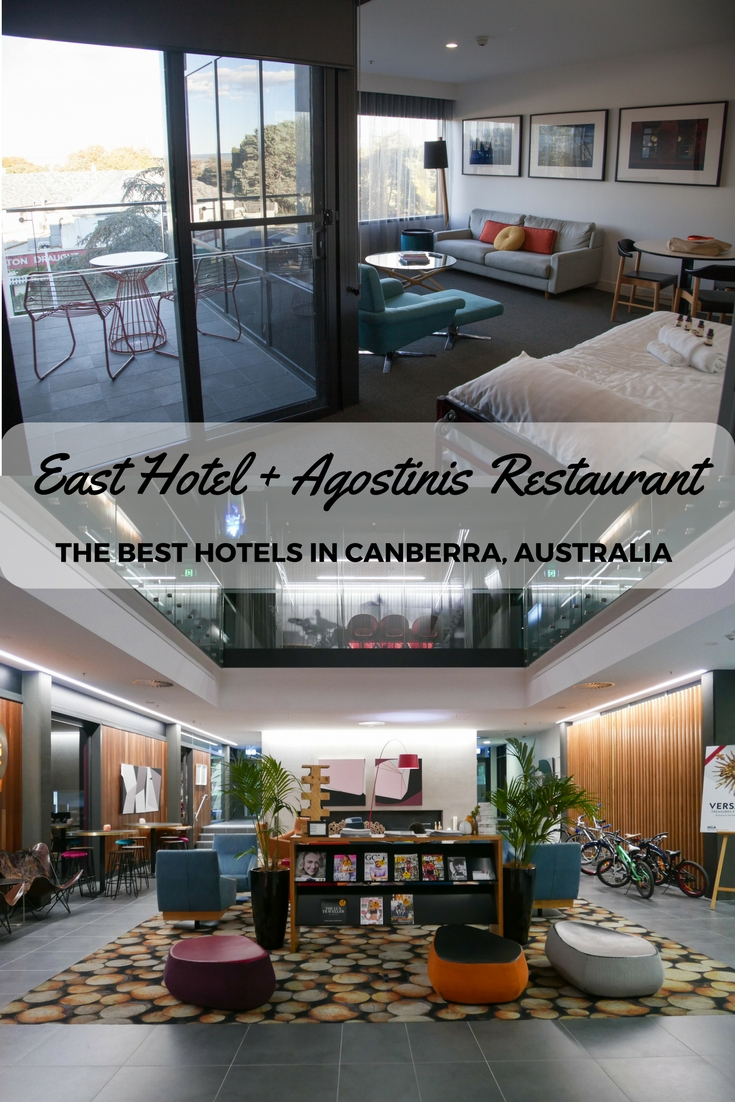East Hotel Canberra + Agostinis Restaurant - Adventure, baby!