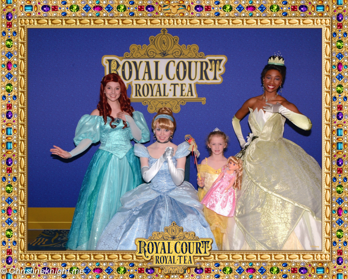 Royal Court Royal Tea, Disney Wonder, Disney Cruise Line