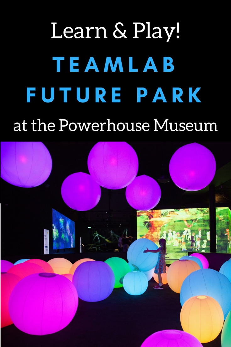 teamLab FUTURE PARK at the Powerhouse Museum #Sydney Australia