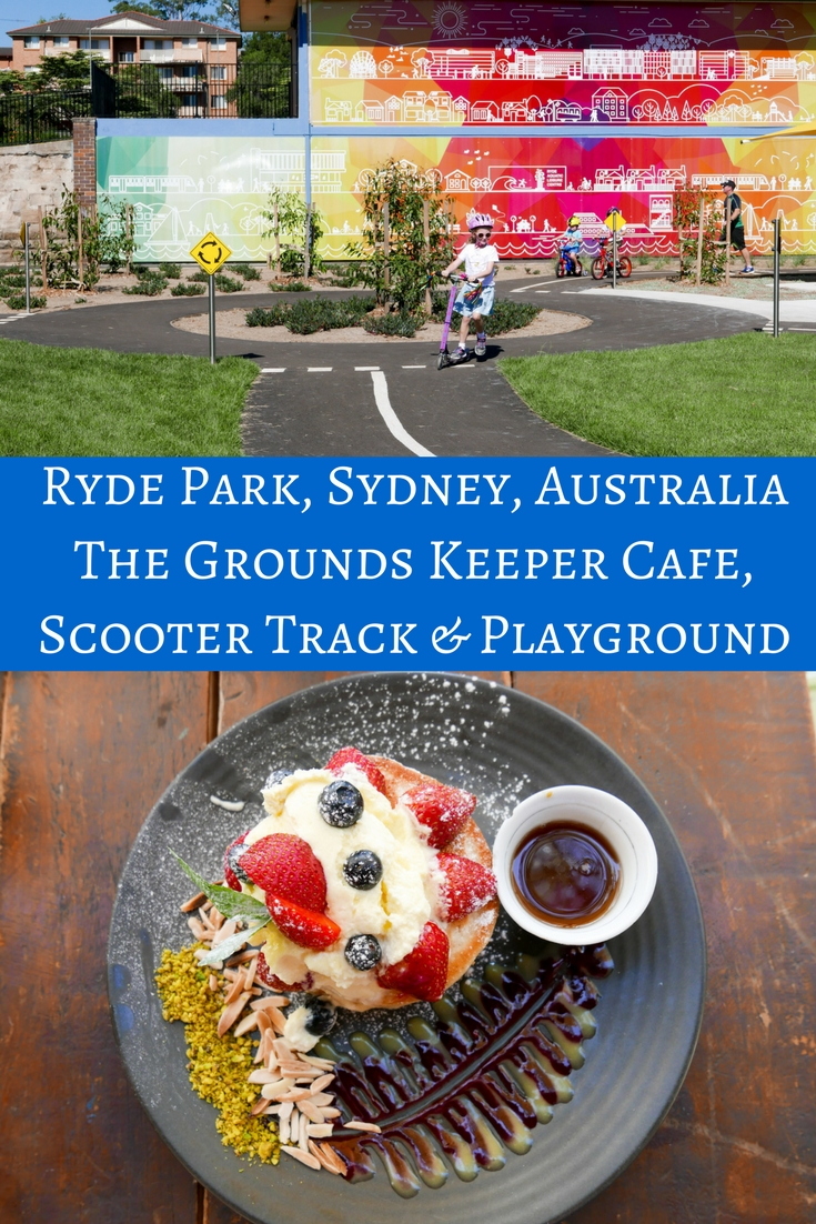 Ryde Park: The Grounds Keeper Cafe, Playground & Scooter Bike Track, Sydney, Australia