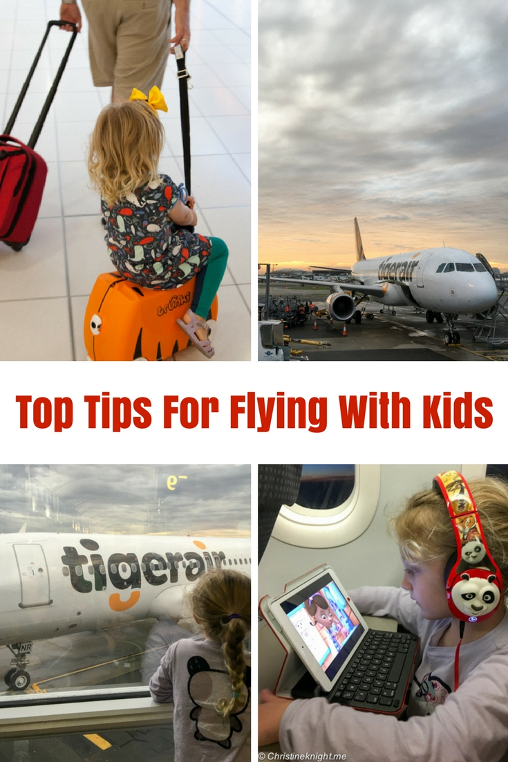 Top Tips For Flying With Kids #flyingwithkids #familytravel via christineknight.me