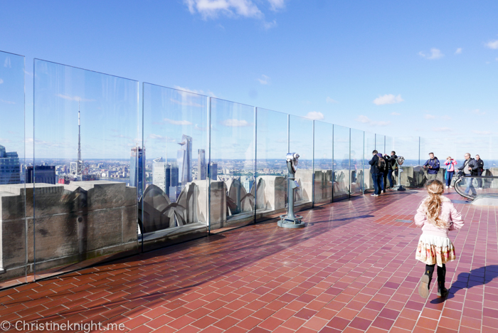 Top of the Rock at the Rockefeller Center, New York