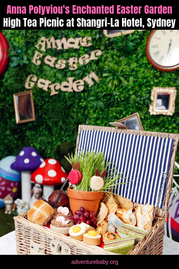 Anna Polyviou's Enchanted Easter Garden High Tea Picnic at Shangri-La Hotel, Sydney