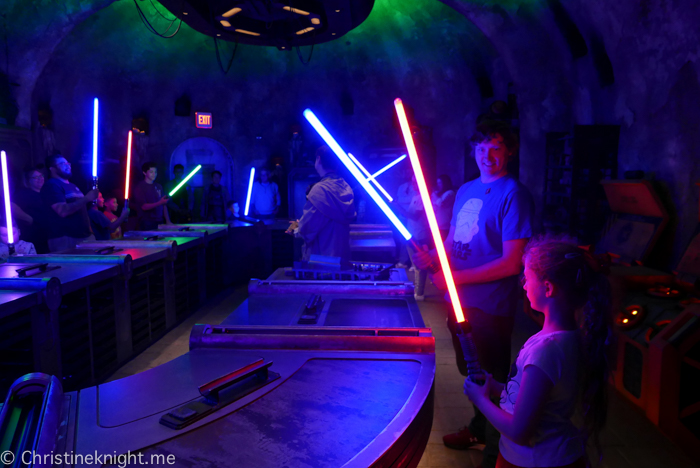 Savi's Workshop Lightsabers, Galaxy's Edge, Disneyland California