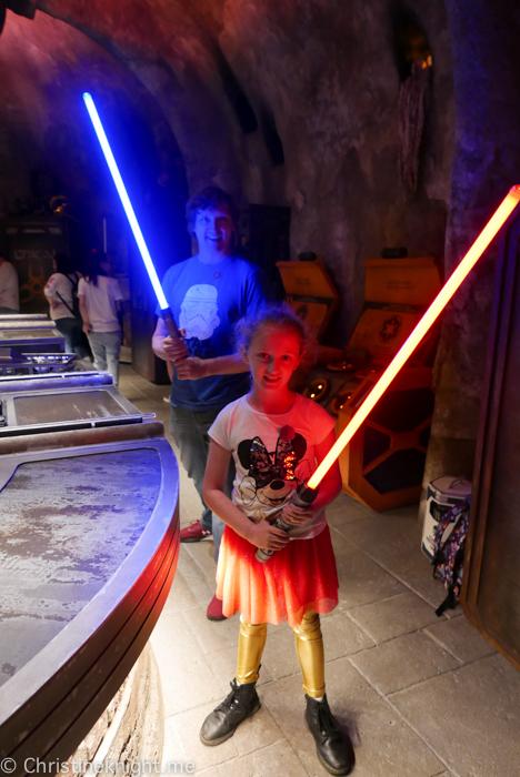 Savi's Workshop Lightsabers, Galaxy's Edge, Disneyland California
