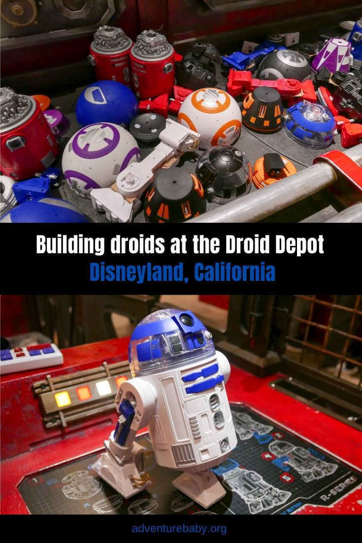 Building Droids at the Droid Depot, Disneyland California