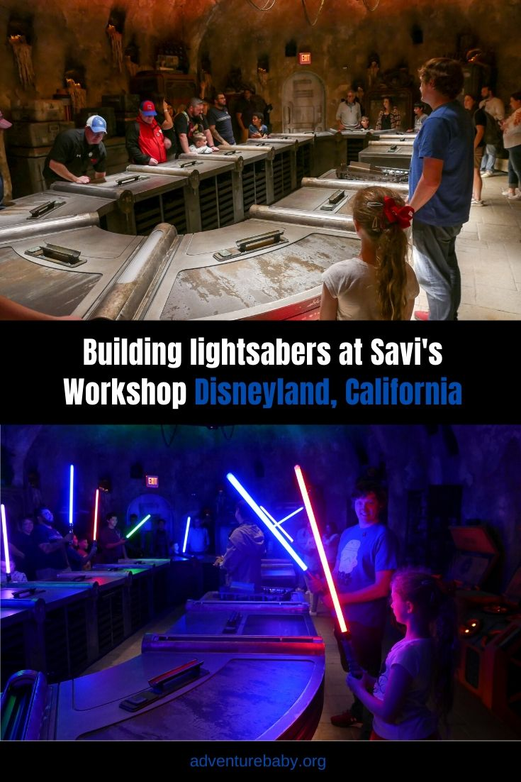 Building Lightsabers at Savi's Workshop, Disneyland California