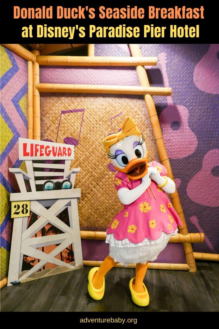 Donald Duck's Seaside Breakfast at Disney's Paradise Pier Hotel